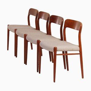 Sedie da pranzo di Niels Otto Moller per J.L. Møller, Danimarca, anni '50, set di 4