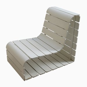 Vintage Beistellstuhl aus Holz, 1970er