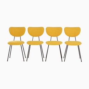 Yellow Dining Chairs model by Gispen for Kembo, 1950s, Set of 4