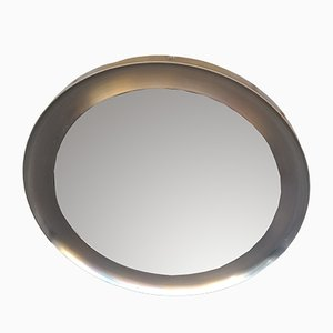 Nickel Plated Brass Mirror by Sergio Mazza for Artemide, 1970s