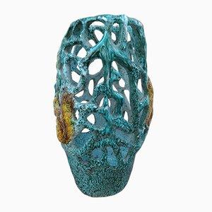 Mid-Century Vase aus Terrakotta von Albissola, 1960er