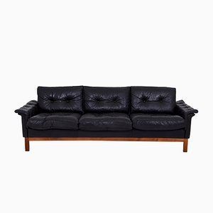 Mid-Century Leather Cardinal Sofa from Ikea, 1970s