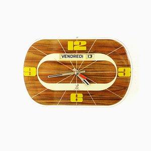 Reloj de pared francés vintage con calendario de Jaz