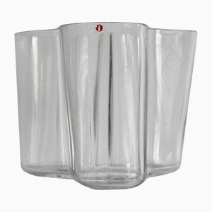 Jarrón de vidrio de Alvar Aalto para Iittala, años 70