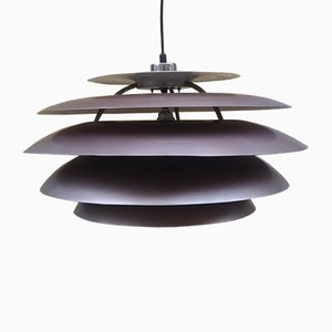 Mid-Century Purple Model 1262 Artichoke Ceiling Lamp from Stilnovo, 1960s