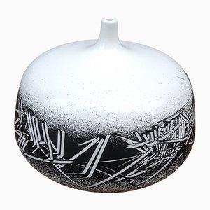 Vaso vintage in porcellana di Emilio Scanavino, anni '70