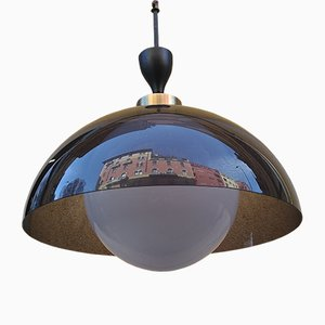 Italian Glass Pendant Lamp from Stilux Milano, 1960s