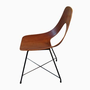 Ariston Mahogany Armchair by Augusto Bozzi for Fratelli Saporiti, 1950s
