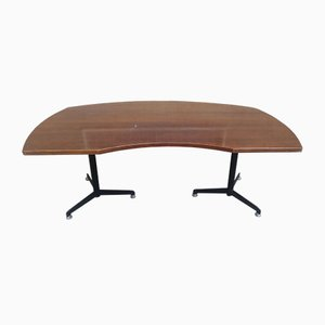 Metal and Wood Desk by Osvaldo Borsani for Tecno, 1960s