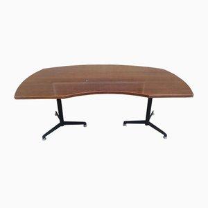 Schreibtisch aus Metall & Holz von Osvaldo Borsani für Tecno, 1960er