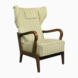 Vintage Danish Fabric Armchair, 1970s