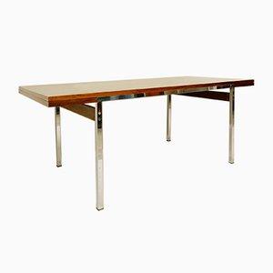 Mesa de comedor extensible de palisandro de Alfred Hendrickx, años 70