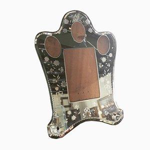 Antiker venezianischer Bilderrahmen aus Spiegelglas