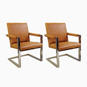 Leather Polo Armchairs by Ralph Lauren, 1970s, Set of 2