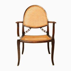 Stuhl mit Sitz aus Korbgeflecht, 1930er