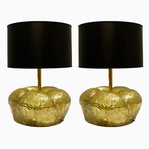 Vintage Metal Table Lamps, 1970s, Set of 2