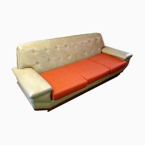 Sofá grande de vinilo, años 70