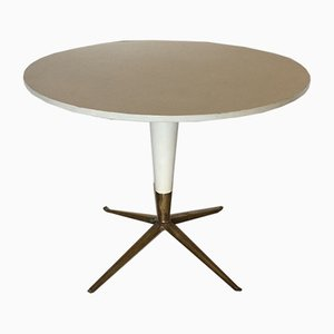 Mid-Century Italian Bronze and Wood Dining Table, 1950s
