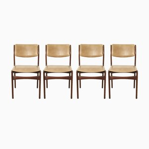 Teak Dining Chairs, 1950s, Set of 4