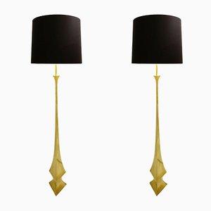 Italienische Stehlampen aus Messing von Tonello & Montagna Grillo, 1970er, 2er Set