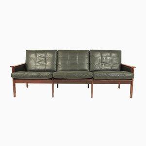 Mid-Century Capella Sofa aus Leder & Palisander von Illum Wikkelsø für Niels Eilersen