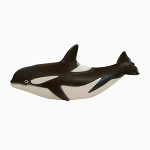 Swedish Orca Killer Whale Sculpture by Paul Hoff for Gustavsberg, 1970s