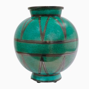 Vintage Swedish Art Deco Ceramic Vase by Wilhelm Kåge for Gustavsberg