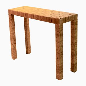 Vintage Italian Bamboo Console Table, 1970s