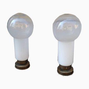Tischlampen aus Muranoglas von Mazzega, 1970er, 2er Set