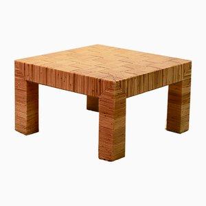 Table Basse en Bambou de Vivai del Sud, Italie, 1970s