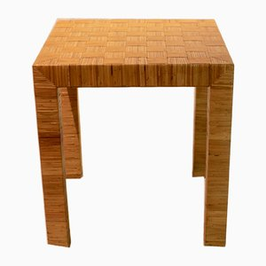 Italian Bamboo Side Table from Vivai del Sud, 1970s