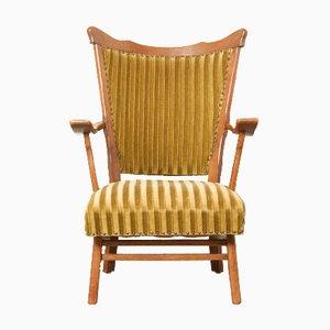 Rustic Oak Armchair, 1940s