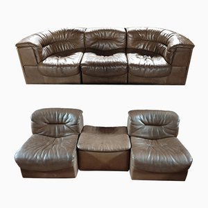 Leather Modular Sofa Set from de Sede, 1960s