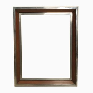 Modernist Chrome, Rosewood, & Brass Frame, 1930s