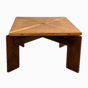 Walnut Extendable Dining Table by Silvio Coppola, 1970s