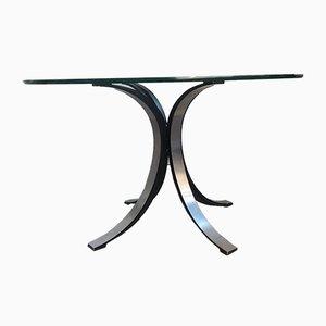 Tavolino da caffè in vetro di Osvaldo Borsani per Tecno, anni '70