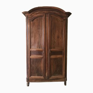 Antique Neo-Classical French Walnut Wardrobe