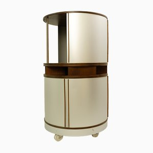 Metal and Wood Combi Center Cabinet by Joe Colombo for Bernini, 1960s