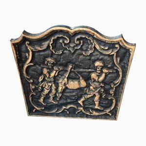 Antike französische Kamindekoration aus Gusseisen