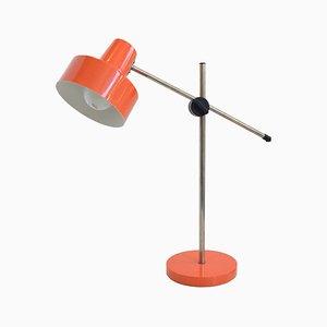 Orangefarbene Mid-Century Tischlampe, 1960er