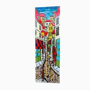Panneau Décoratif MId-Century en Céramique par Hugo R.S.M. Republic of S. Marino, Italie, 1978