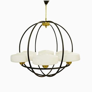 Globe Chandelier from Maison Arlus, 1950s