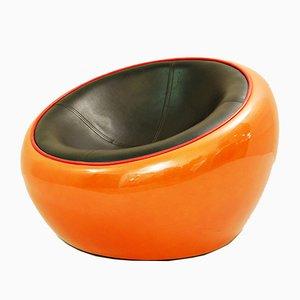 Egg Pod Ball Sessel aus Skai & Faserplatte von Eero Aarnio, 1960er