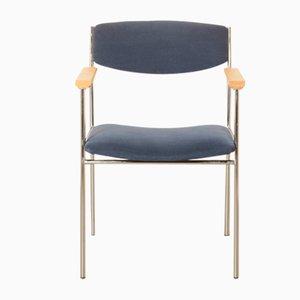 Oak and Steel Dining Chair by Gijs van der Sluis, 1960s