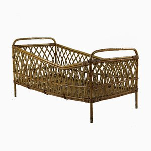 Rattan Children's Bed from Rohé Noordwolde, 1960s