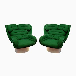 Italian Elda Armchairs by Joe Colombo for Comfort Italy, 1970s, Set of 2