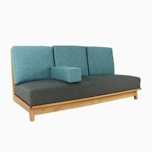 Sofá cama de algodón y roble de Bas Van Pelt para Bas Van Pelt, años 40