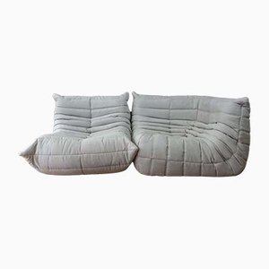 French Microfiber Sofas by Michel Ducaroy for Ligne Roset, 1970s, Set of 2