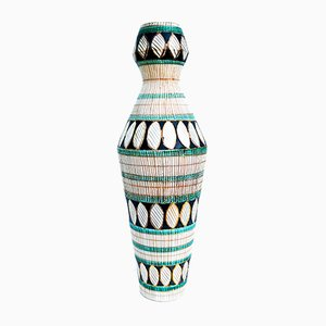 Italian Ceramic Vase from Ceramiche Deruta, 1950s