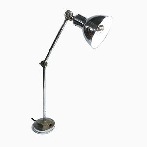 Lámpara de mesa industrial cromada de AGI, años 30